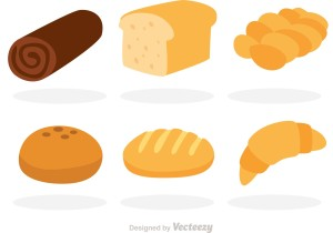 vector-bread-flat-icons